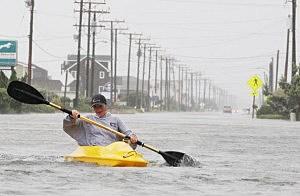 Hurricane Earl Brushes Past North Carolina Coast
