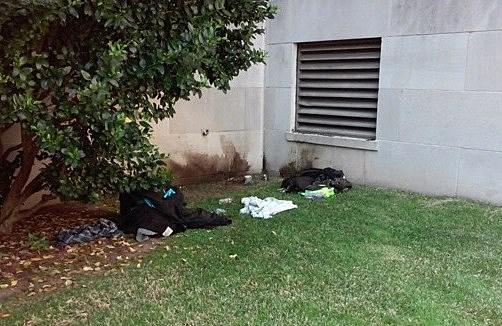 Detonation Site Outside Caddo Courthouse
